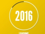 The concept of  new arrival in 2016. Round progress bar loader.